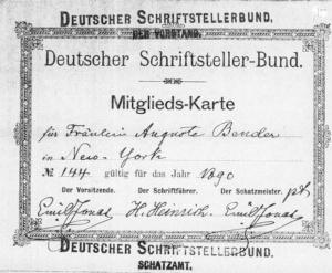 November 1890 - Mai 1891: Hedernheim bei Frankfurt